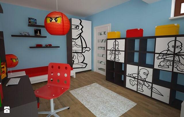 Pokój dziecięcy w stylu lego ninjago