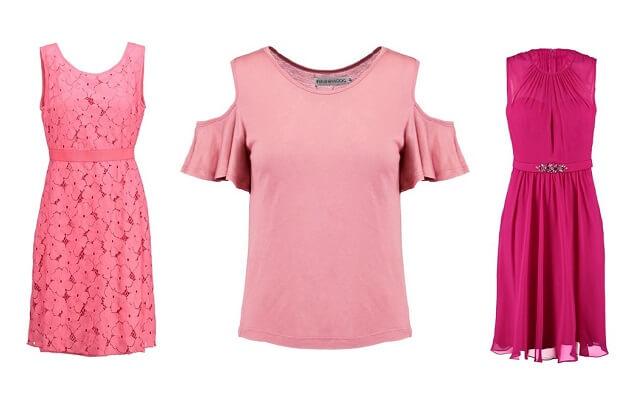 Ubrania w odcieniu różu