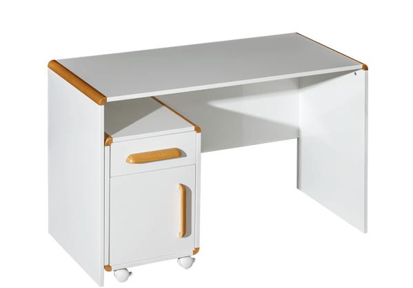 białe biurko młodzieżowe