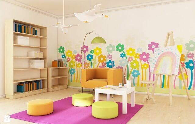 Kwiaty w pokoju dziecka