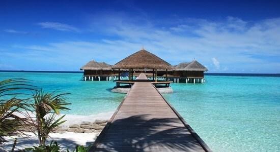 Malediwywidok na dom na wodzie