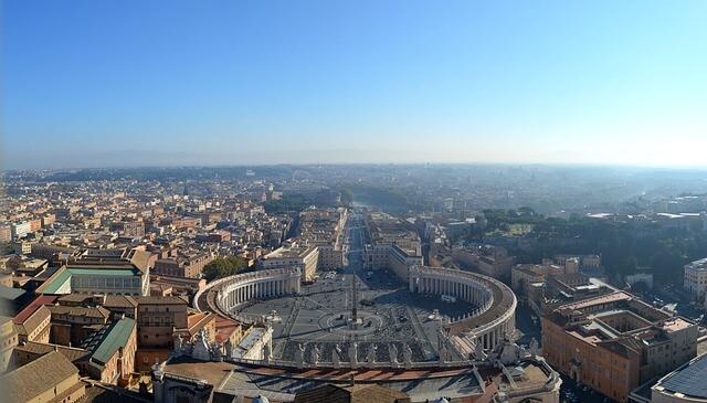 Rzym widok z bazyliki świętego Piotra