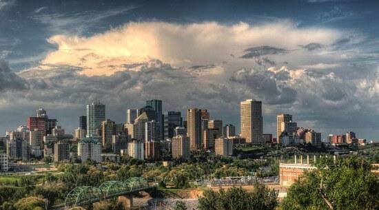 panorama kanadyjskiego miasta