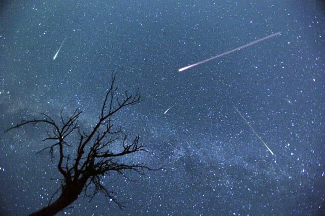 Perseidy spadające gwiazdy
