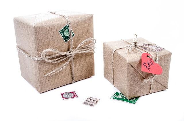 ładnie zapakowane paczki