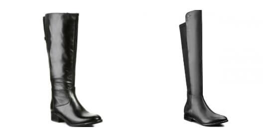 Dwa modele skórzanych butów oficerek
