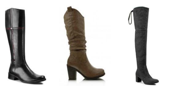 Trzy modele butów kozaków na jesień i zimę