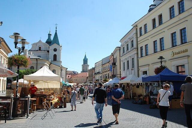 Deptak w Lublinie