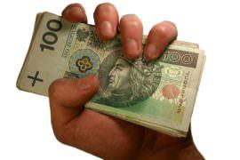 pieniądze w ręku