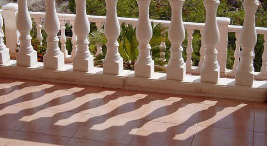 Płyty tarasowe i balustrada
