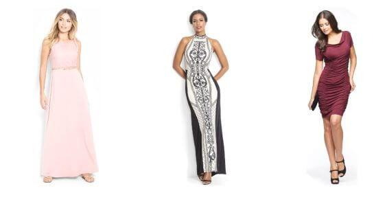 Kobiety w wyszczuplających sukienakach